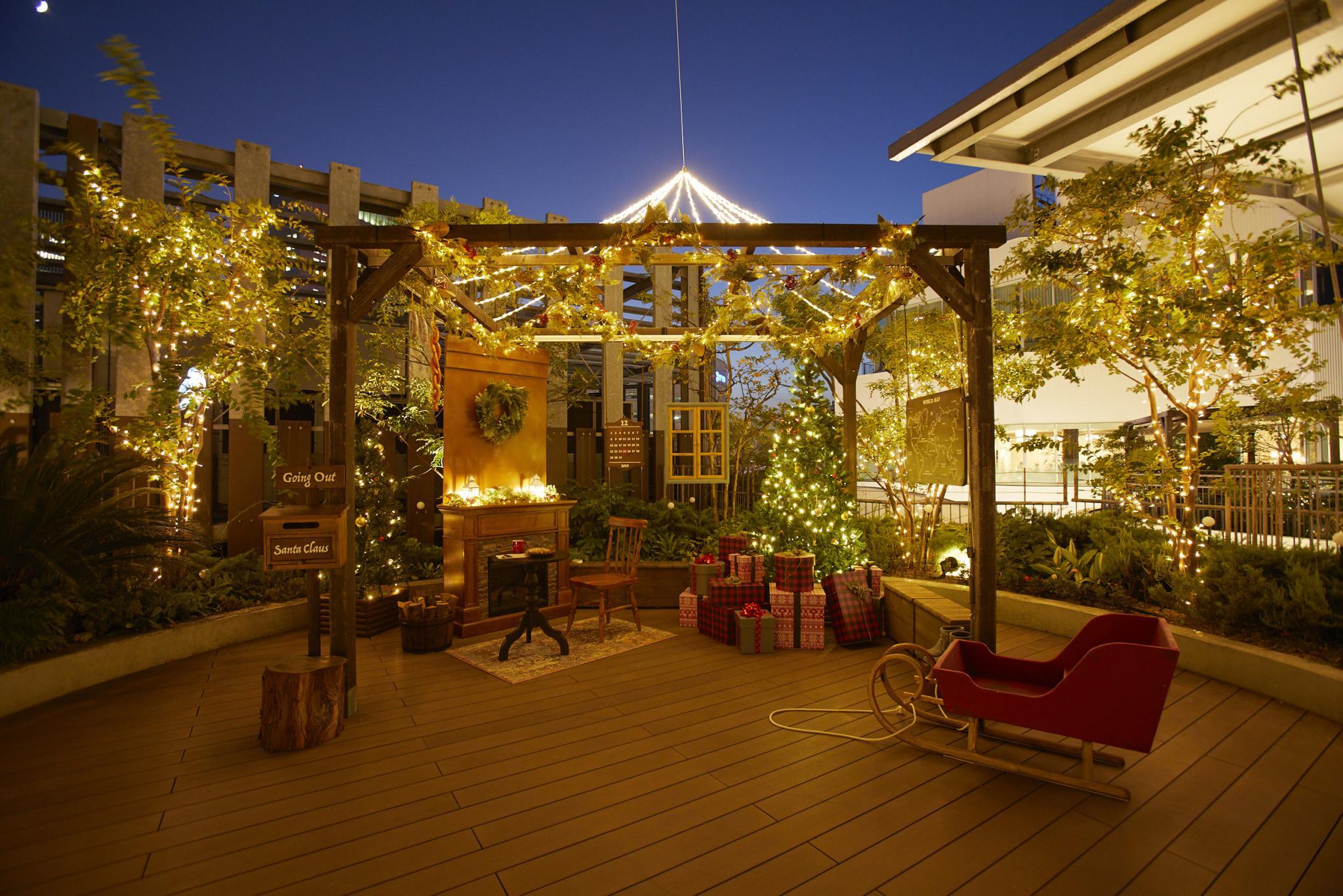 【ガーデン】サンタの家のフォトスポット